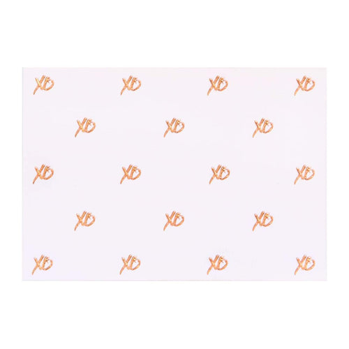A6 Card and Envelopes Rose Gold XO PK10 - Designer Cards