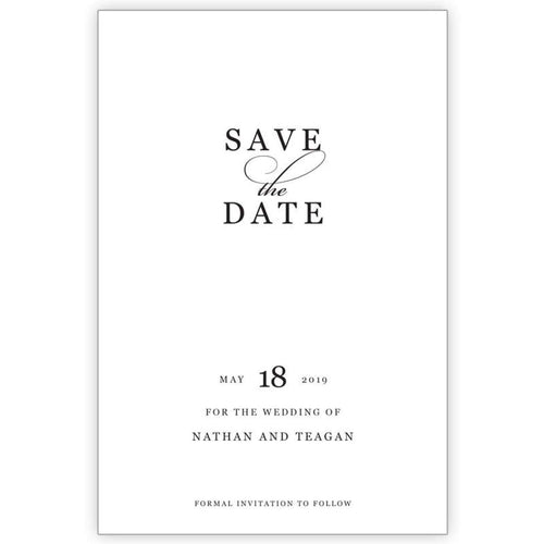 Black Classic - Save the Date Card