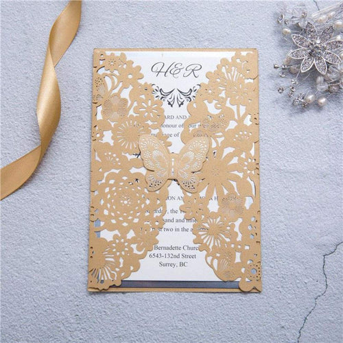 Butterfly Laser cut invitation