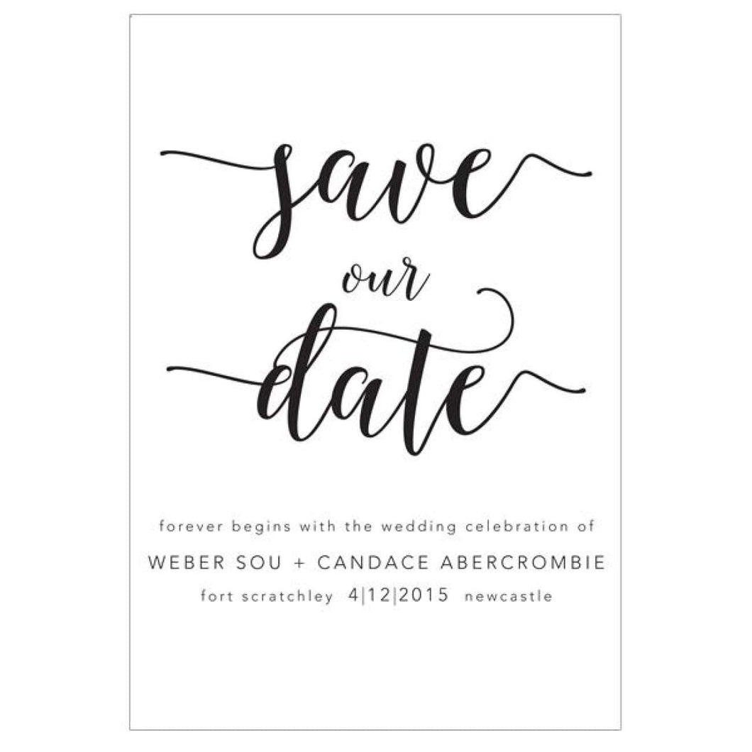 Candice - Save the Date Card