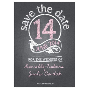 Chalkboard Danielle - Save the Date Card