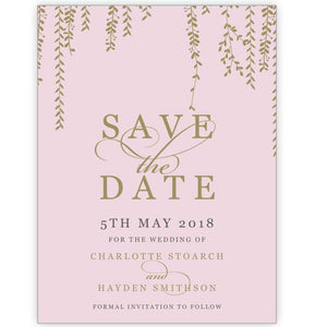 Charlottes Vines - Save the Date Card