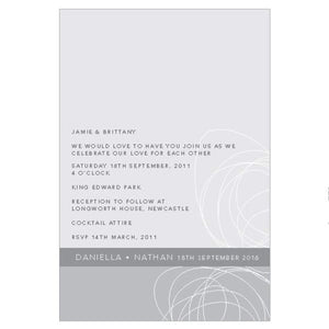 Classic Circles - Wedding Invitation