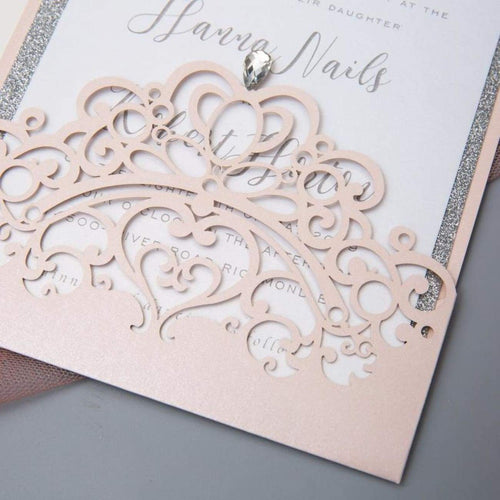 'Crown Quinceanera' - Laser cut Sleeve