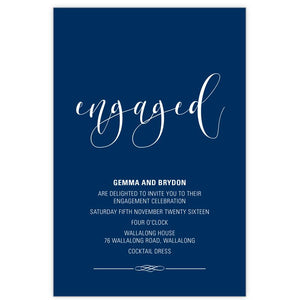 navy engagement invitation