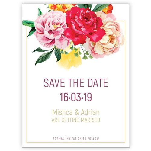 Flower Bomb - Save the Date Card