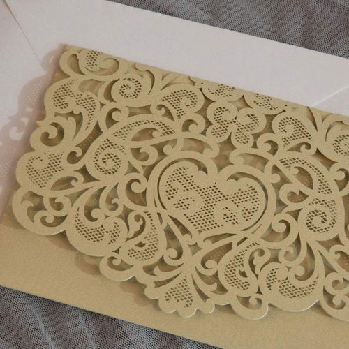 'Graceful Love' - Laser cut Tri-fold Pocket