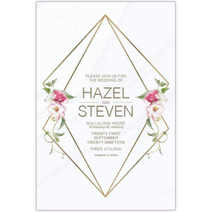 Hazel Bloom 2 - Wedding Invitation