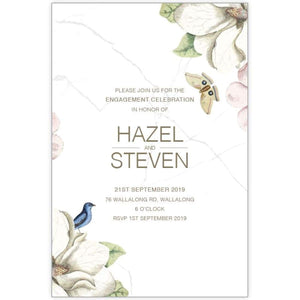 Hazel Bloom 3 - Engagement Invitations