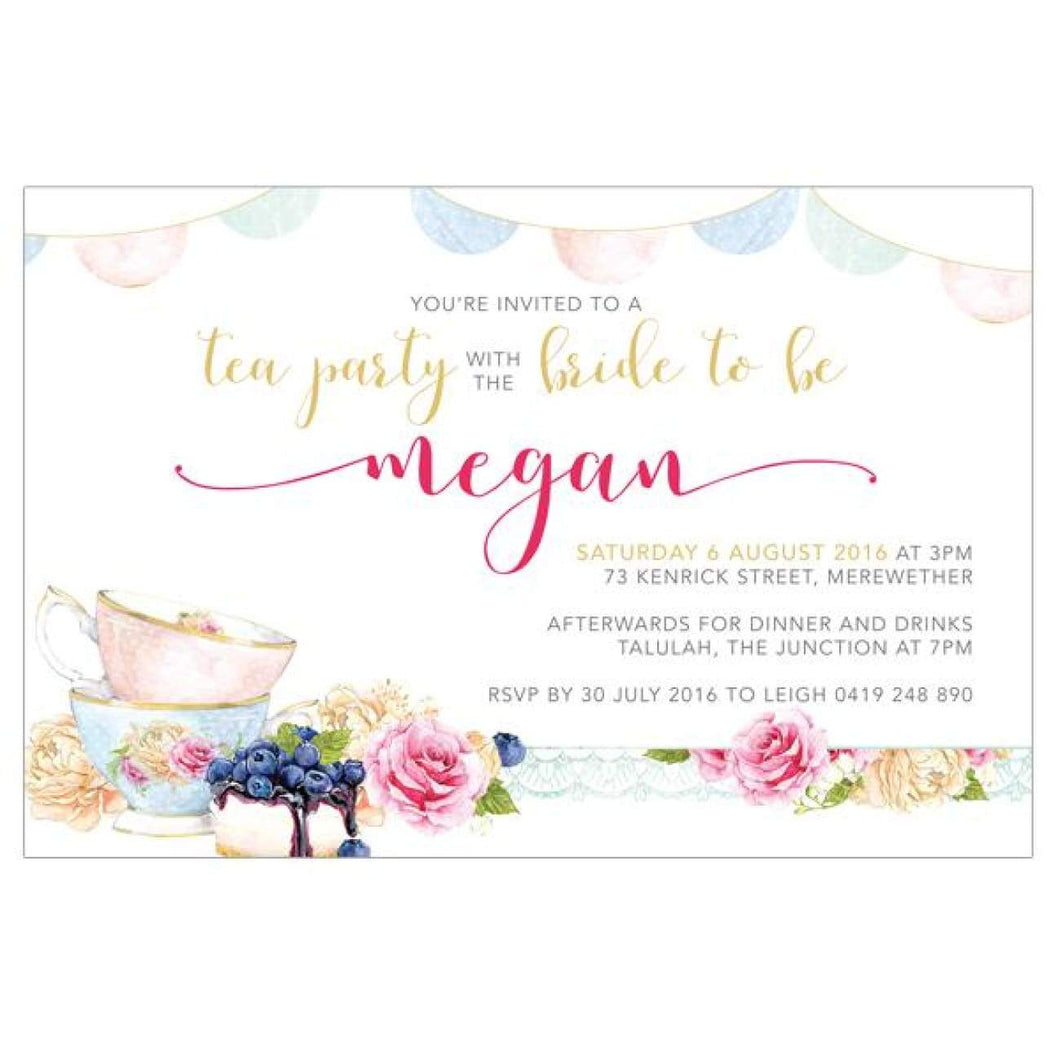 High Tea - Bridal Shower Invitations