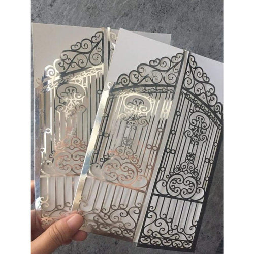 Iron Gates Mirror Laser cut Invitation