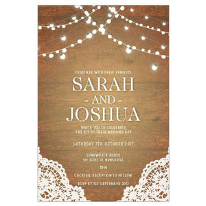 Lace and Lights - Wedding Invitation