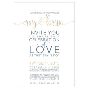Larissas Love - Wedding Invitation