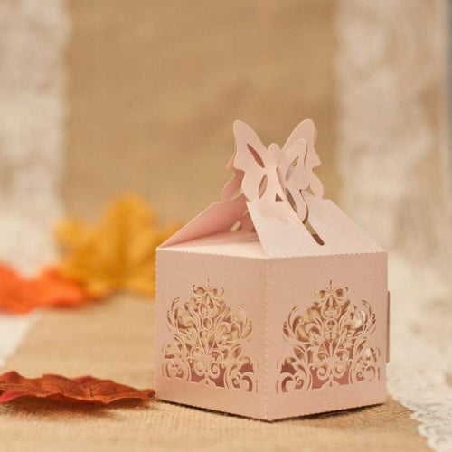 Laser cut - Favor Box - Butterfly Floral - Wedding Accessories