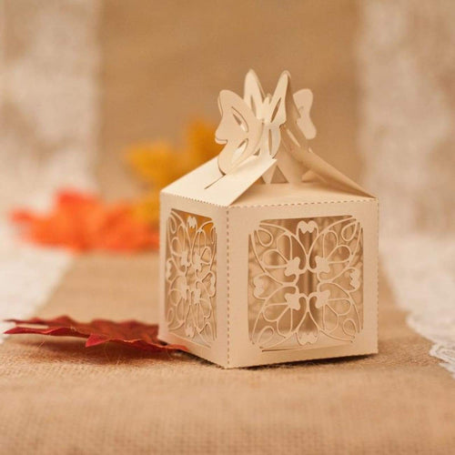 Laser cut - Favor Box - Delicate Butterfly - Wedding Accessories