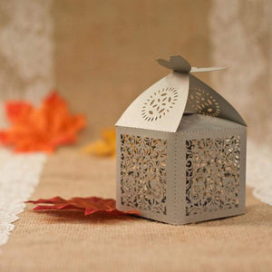 Laser cut - Favor Box - Elegant Butterfly - Wedding Accessories