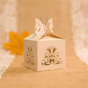 Laser cut - Favor Box - Lace Swirl - Wedding Accessories