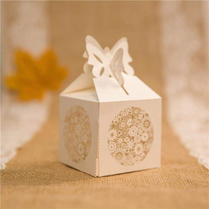 Laser cut - Favor Box - Romantic Butterfly - Wedding Accessories