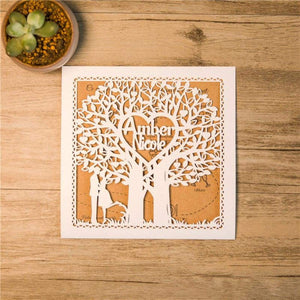 'Love Tree' - Laser cut - Personalised