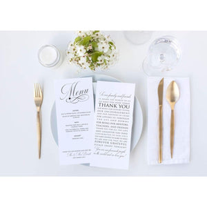 Menu / Thank You Cards