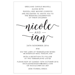 Nicole - Wedding Invitation