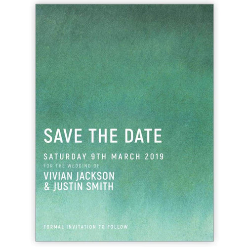 Ombre Magic - Save the Date Card