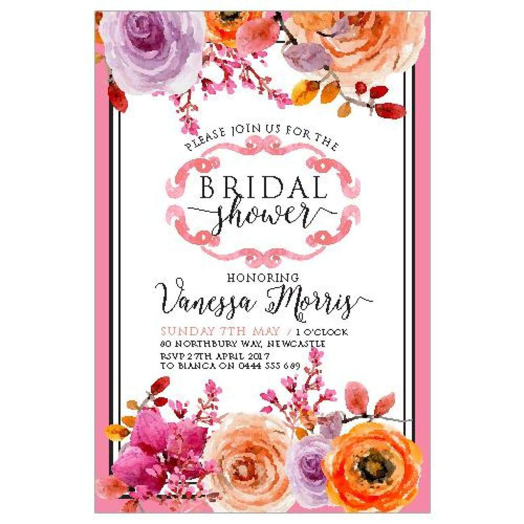 Orange Drop - Bridal Shower Invitations