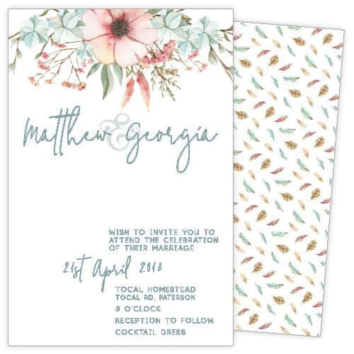 Pastel Mood Wedding Invitation