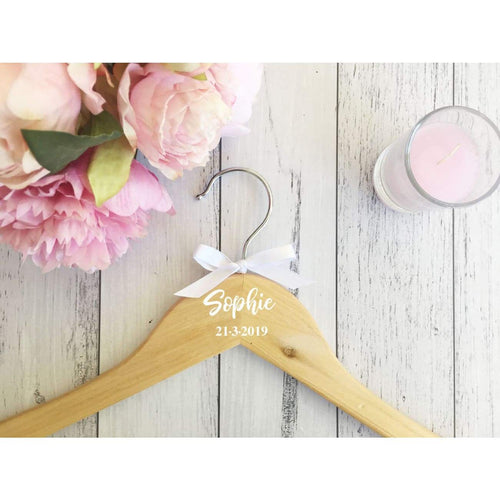 Personalised Coat Hanger with Bow - Coat Hanger
