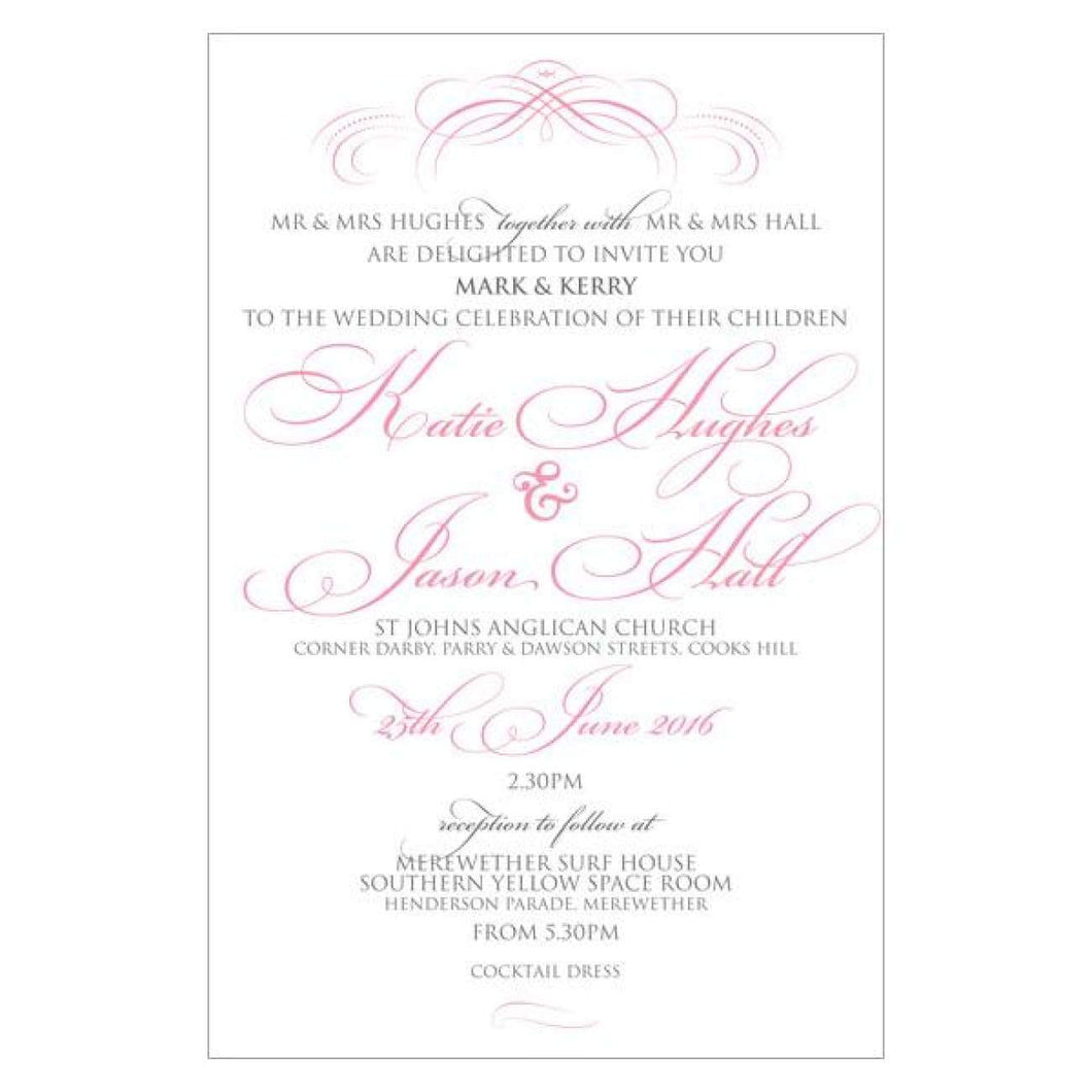 Pink Kate - Wedding Invitation