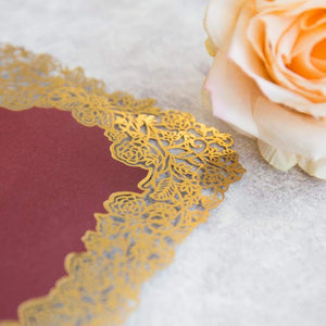 'Rose Border Mirror' - Laser cut Flat Card
