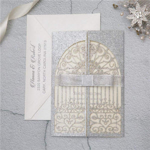 'Secret Garden Gates Glitter ' P - Laser cut Gate Fold