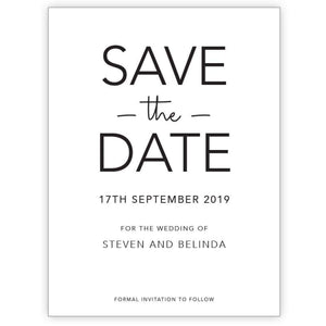 Stelletto - Save the Date Card