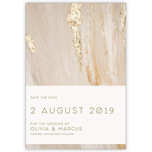 Stroke of Gold - Save the Date Card