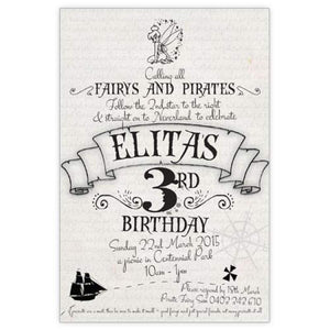 Tinkerbell inspired - Birthday Invitations