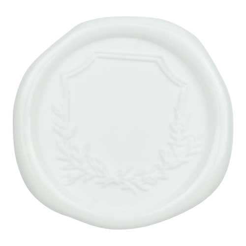 bright white wax seal