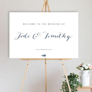 Blue Jade - Welcome Sign