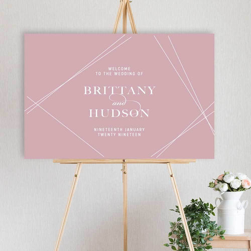 Blushing Brittany - Welcome Sign