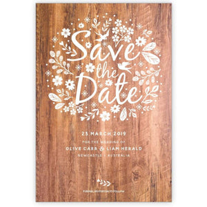 Whimsical Bird - Save the Date