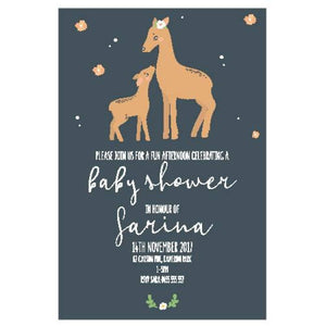 Woodland Deer - Baby Shower Invitations