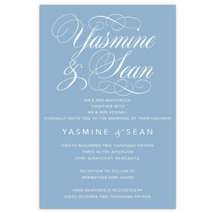 Yasmine Swirl (wi) - Wedding Invitation