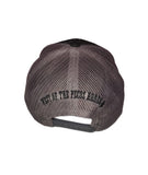 Black Trucker Skull Cap