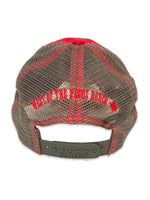 Red Trucker Skull Cap