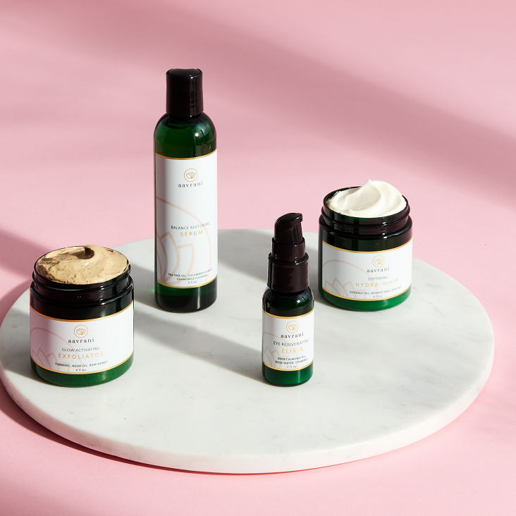The aavrani Ritual ($260 value): a complete skincare regimen comprised of four powerful steps that work together to achieve your most radiant glow