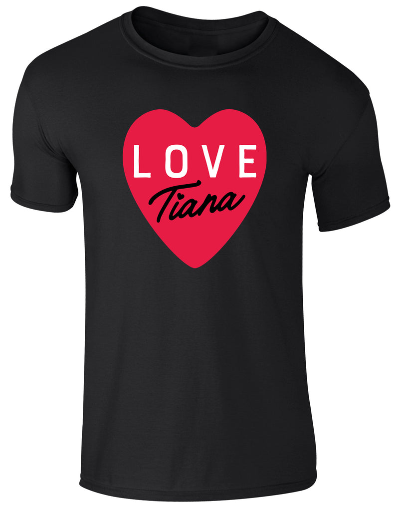 Hearts By Tiana - Love Tiana T-Shirt in Black