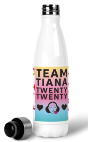 Water Bottle - Hearts By Tiana
