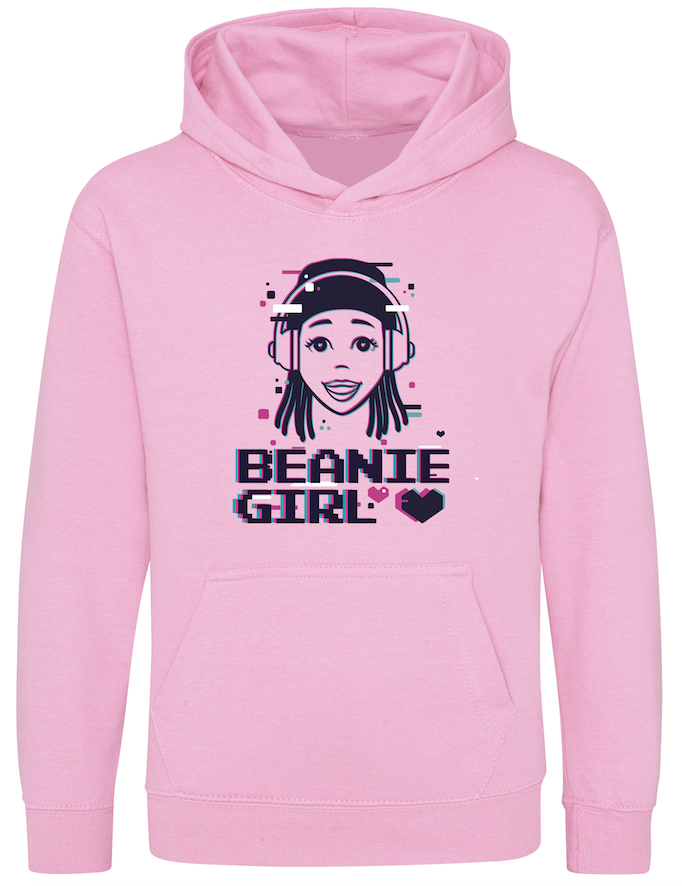Hearts By Tiana - Beanie Girl Hoodie in Baby Pink