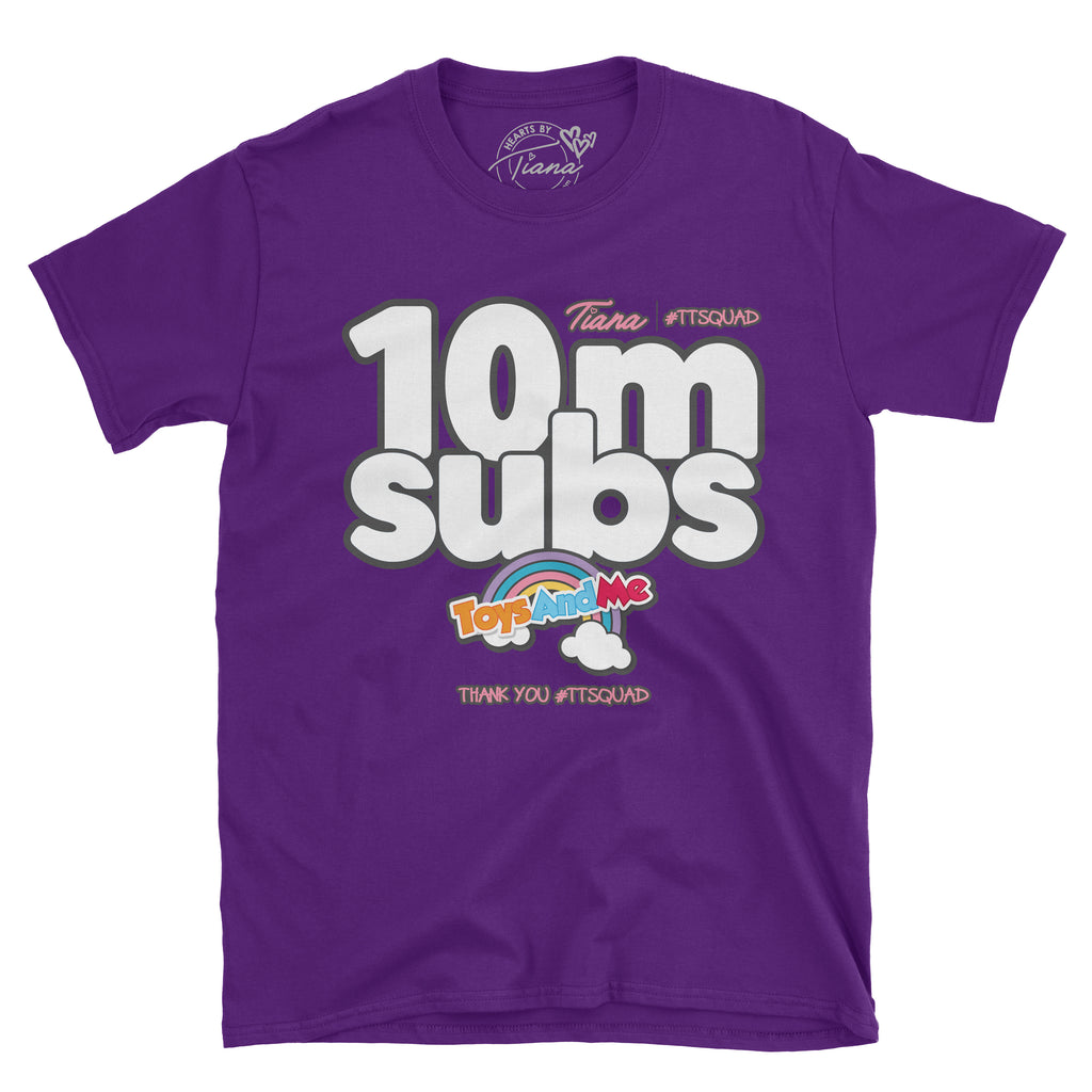 TOYS ANDME 10 Million Subs t-shirt