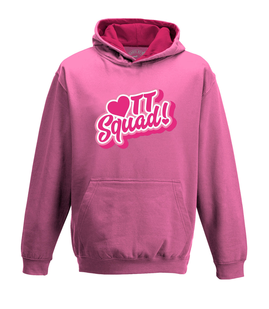 TT SQUAD Pink Hoodie - Hearts By Tiana