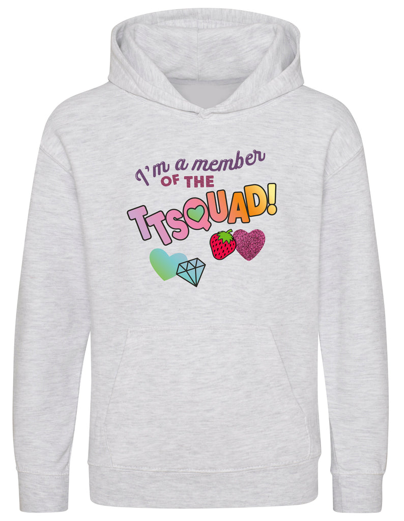 Hearts By Tiana - TTSQUAD Hoodie in Grey